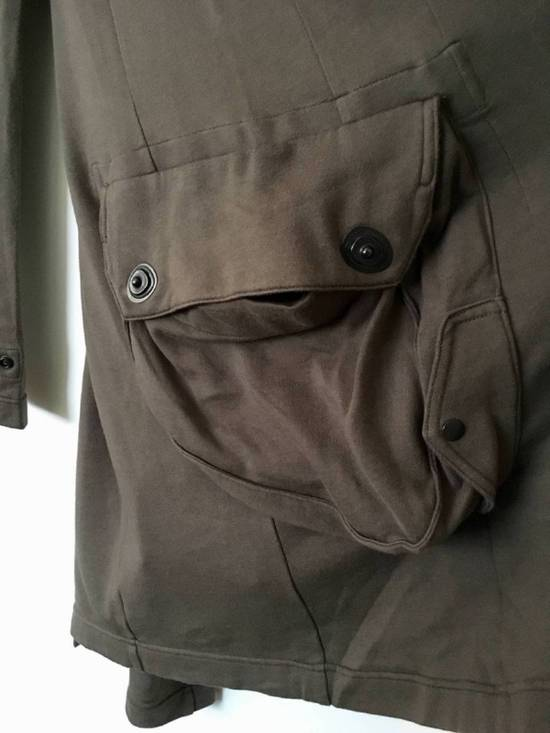 Julius Japan made long jersey oversize Popper fastening Gasmask pocket jacket Size US S / EU 44-46 / 1 - 4