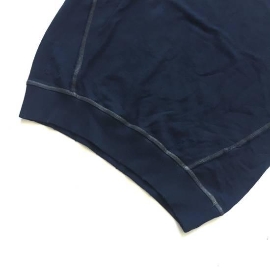 Balmain Distressed Navy French Terry Sweatshirt NWT Size US XL / EU 56 / 4 - 7
