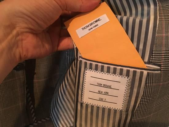 Thom Browne Men's Grey Black & White Prince Of Wales Wool Jacket Size US M / EU 48-50 / 2 - 5