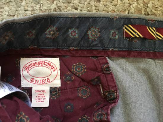 Brooks Brothers Rare Vintage Red Fleece Embroidered Gray Slacks Size US 30 / EU 46 - 1