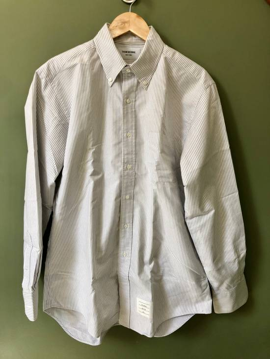 Thom Browne *Final Drop* Button Down Striped Dress Shirt Size US XXL / EU 58 / 5 - 1