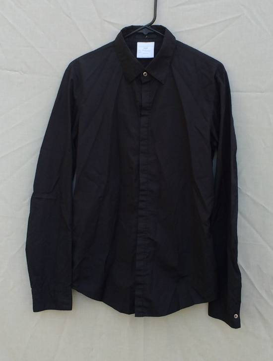 Julius Black Hidden Placket Shirt Size US L / EU 52-54 / 3