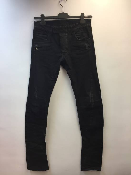 Balmain Distress Waxed Jeans Size US 28 / EU 44 - 12