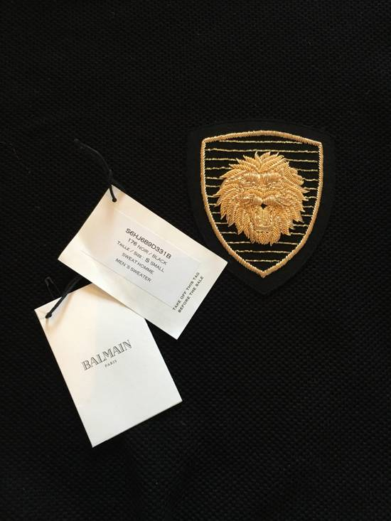 Balmain BALMAIN Embroidered Crest Badge Cotton-Jersey Sweatshirt Size US S / EU 44-46 / 1 - 4