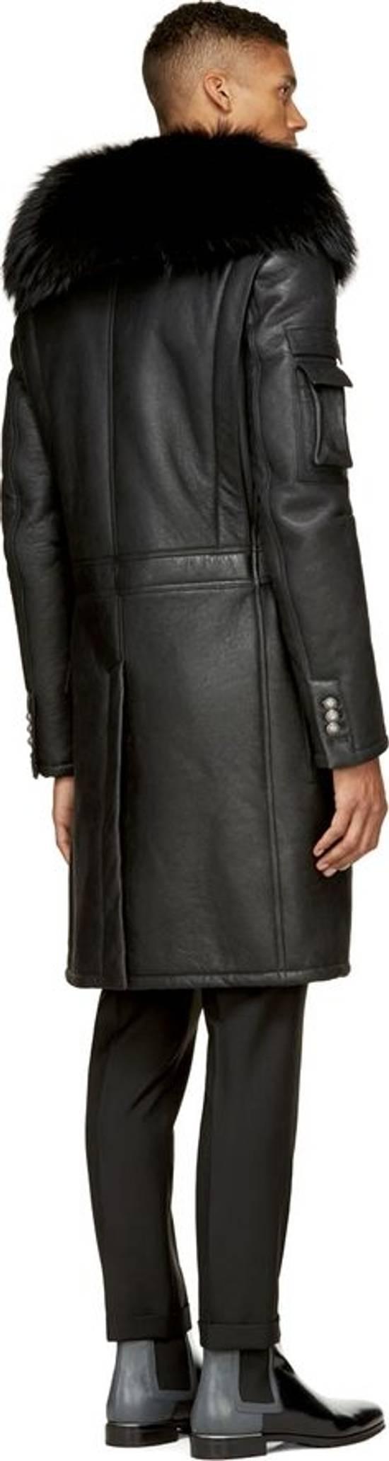 Balmain Balmain Leather Shearling Fur Parka Black Size Small 46-48 Coat Military Size US S / EU 44-46 / 1 - 3