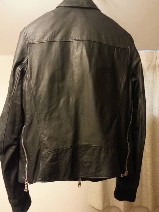 Balmain Safety Pin Leather Biker Jacke Size US M / EU 48-50 / 2 - 10