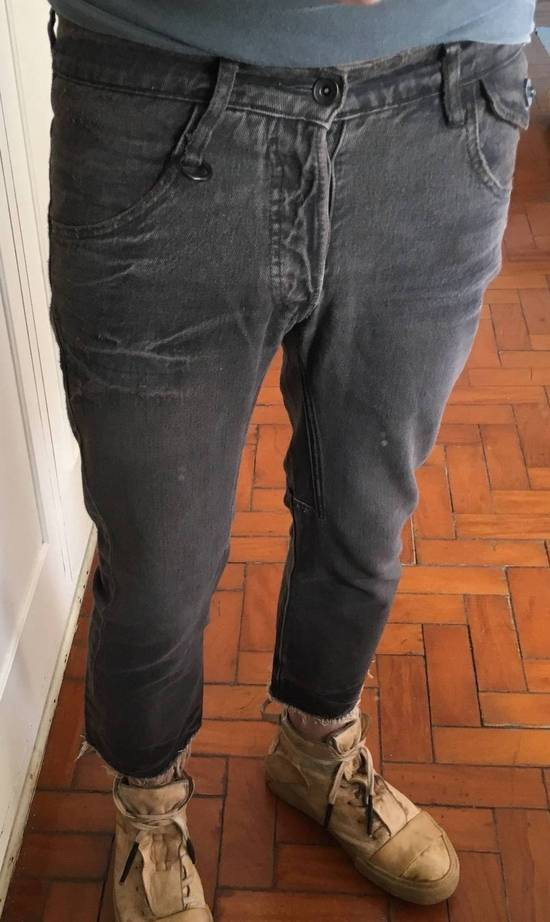 Julius Japan made cropped wrinkle and dirt effect distressed frayed hem Jeans Size US 28 / EU 44 - 3