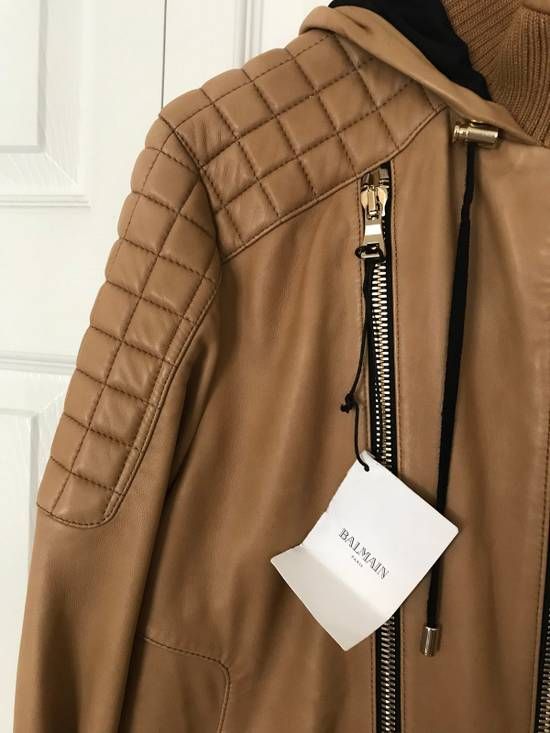 Balmain New $4155 Lambskin Leather Jacket Size US L / EU 52-54 / 3 - 2