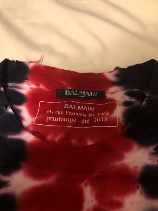 Balmain Balmain Red Tyedye Tee Size US L / EU 52-54 / 3 - 1