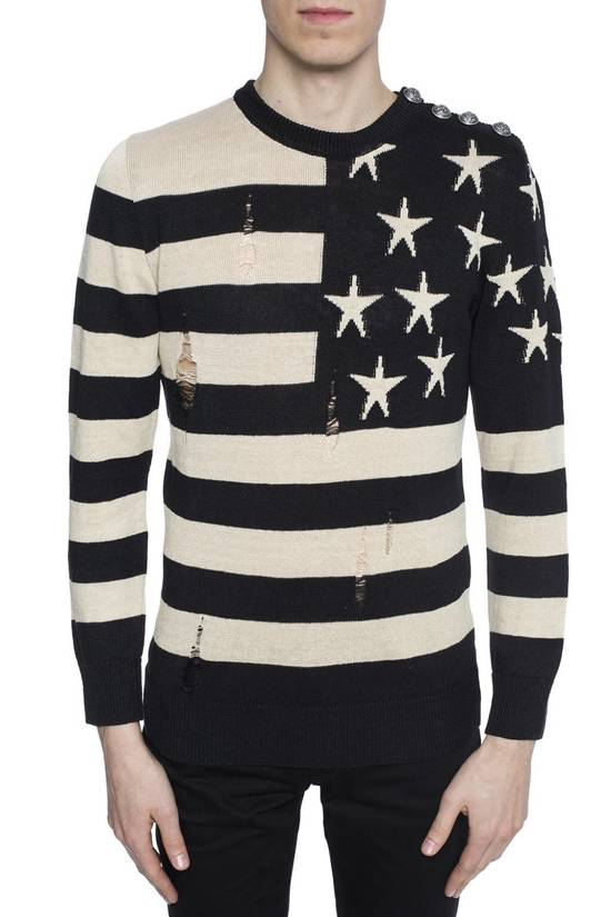 Balmain Brand New Balmain Flag Embroidered Sweater Size US L / EU 52-54 / 3 - 1