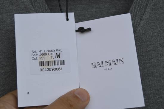Balmain Grey Distressed V-Neck T-shirt Size US M / EU 48-50 / 2 - 3