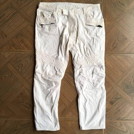 Balmain Balmain White Biker Pants Size US 36 / EU 52 - 1