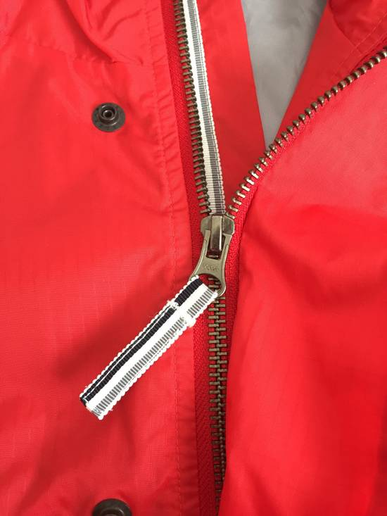 Thom Browne Red Hooded Rain Parka, NWT Size US L / EU 52-54 / 3 - 3