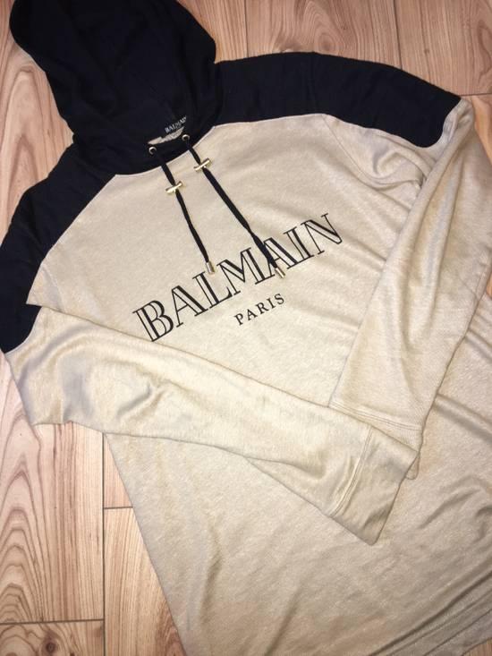 Balmain Balmain Beige Logo Hoodie Size US XS / EU 42 / 0