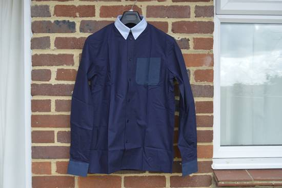 Givenchy Blue Contrast Pocket Shirt Size US L / EU 52-54 / 3