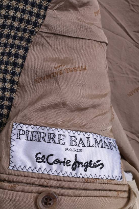 Balmain Pierre Balmain Paris El Corte Ingles Mens 56 L Blazer Top Suit Check Wool Brown 9933 Size 42R - 4