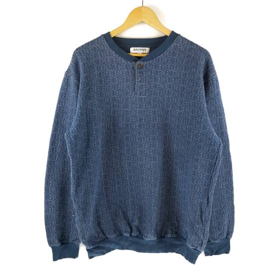 Balmain Vintage Balmain Monogram Blue Sweatshirt Size US L / EU 52-54 / 3 - 1