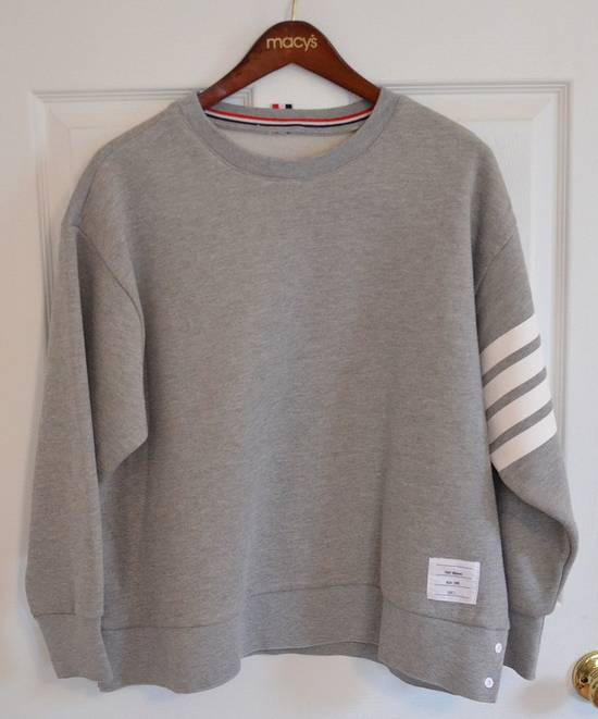 Thom Browne Grey Four Bar Sweater Size US S / EU 44-46 / 1