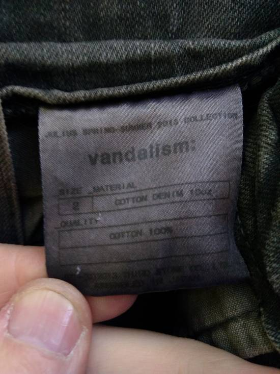 Julius Green Denim Gas Mask Cargo Pants s/s 13 Size US 31 - 4
