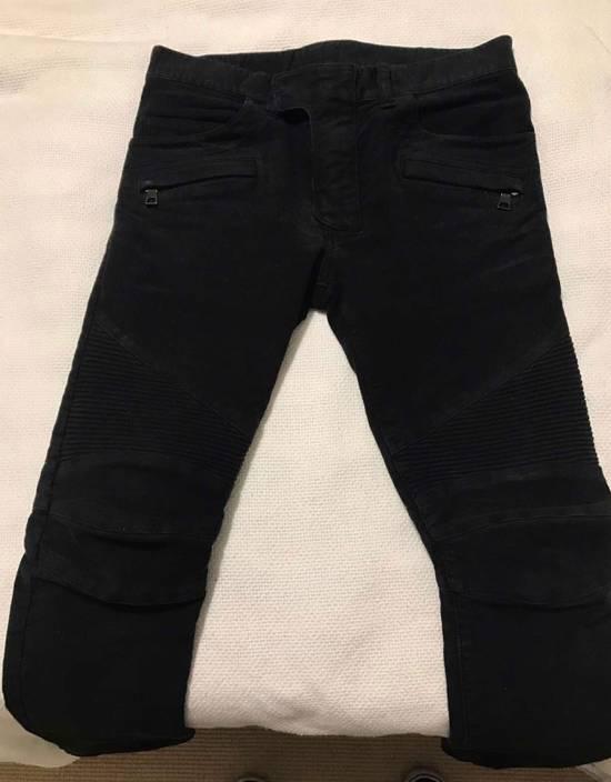 Balmain Black Cotton Biker Jeans Size US 30 / EU 46