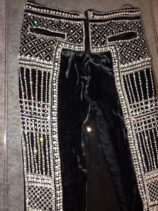 Balmain Balmain Fall 2012 Swarovski Crystal Fabergé Trouser Size US 32 / EU 48 - 10