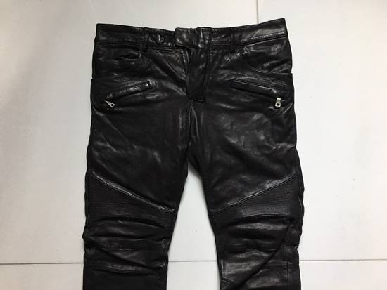 Balmain Leather Biker Jeans Size US 32 / EU 48