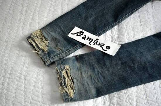 Balmain Destroyed Biker Jeans Size US 27 - 2