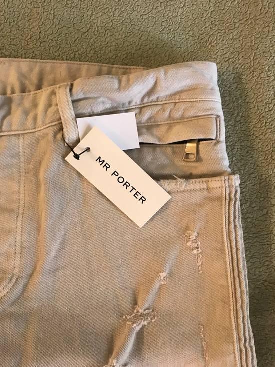 Balmain Distressed stretch-denim biker jeans Size US 31 - 2