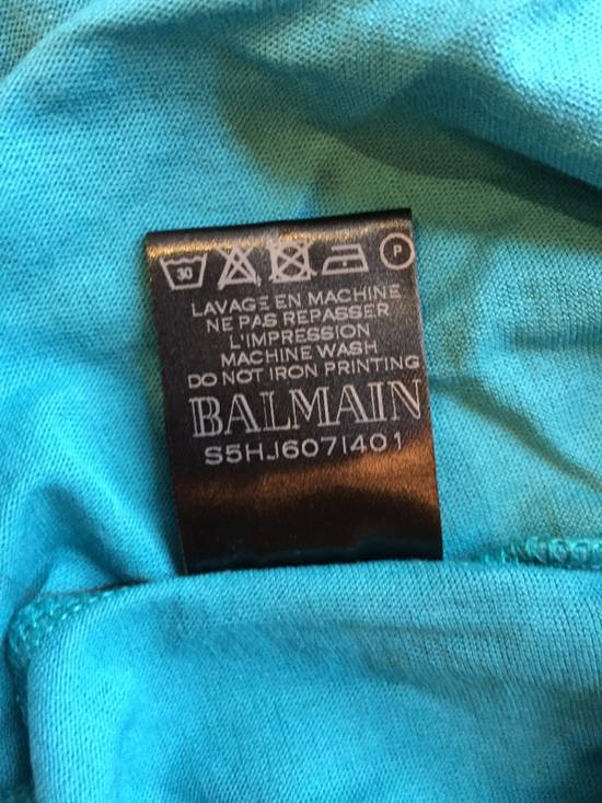 Balmain Light Blue Balmain Tee with White Crest Size US L / EU 52-54 / 3 - 6