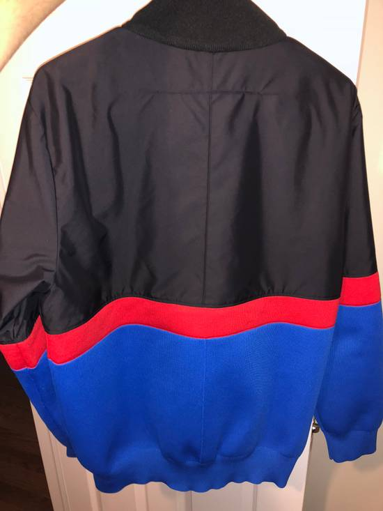 Givenchy GIVENCHY HALF ZIP LOGO BAND JACKET (BLUE/RED/BLACK) Size US XL / EU 56 / 4 - 4