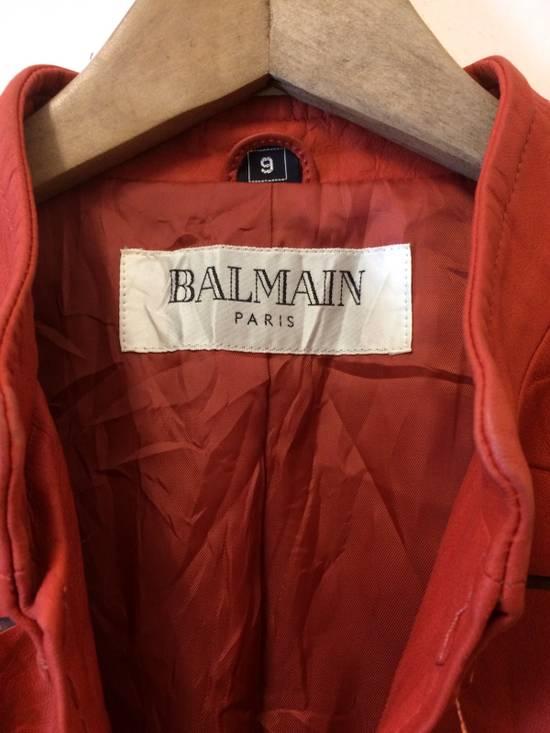 Balmain BALMAIN LEATHER JACKET DISTRETCH DESIGN HAND MADE Size US S / EU 44-46 / 1 - 2