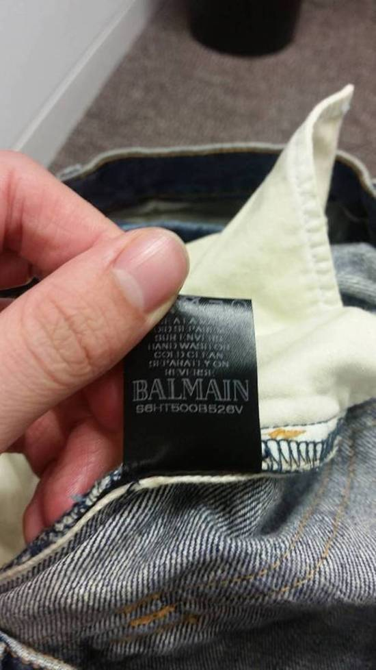 Balmain New! MIJ distressed selvage pleated bikers Size US 29 - 8