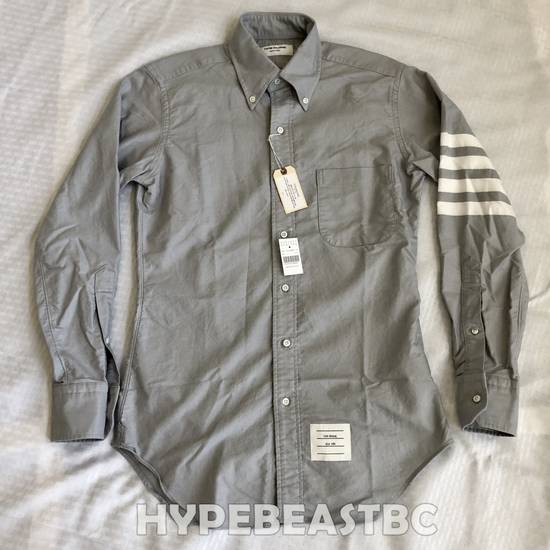 Thom Browne THOM BROWNE 4-Bar Striped Sleeve Cotton Oxford Shirt, Size 1, Gray, NWT Size US S / EU 44-46 / 1 - 5