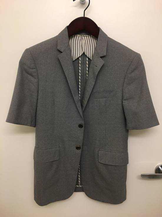 Thom Browne Thom Browne Short Sleeve Grey Tropical Wool Jacket Size 36S