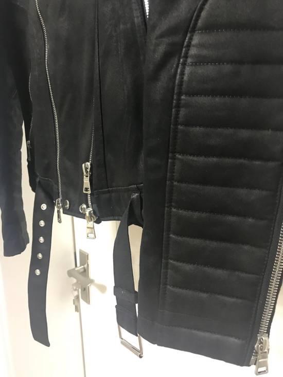 Balmain waxed biker jacket Size US M / EU 48-50 / 2 - 5
