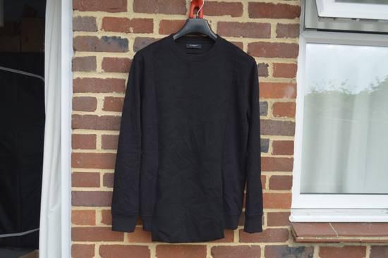 Givenchy Black Bonded Cotton Detail Sweater Size US M / EU 48-50 / 2