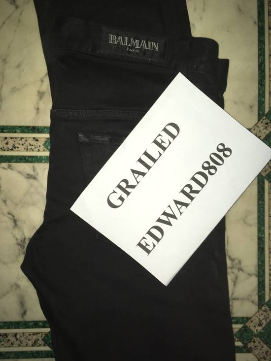 Balmain SS12 Black Waxed Jeans Size US 30 / EU 46 - 6
