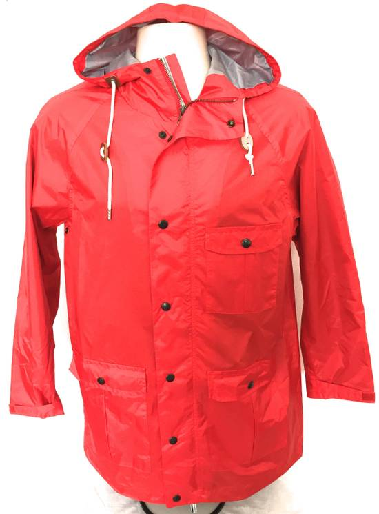 Thom Browne Red Hooded Rain Parka, NWT Size US L / EU 52-54 / 3