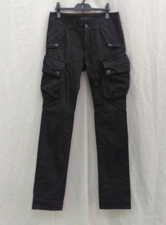 Julius FW09 Black Slim Gas Mask Cargo Pants Size US 30 / EU 46