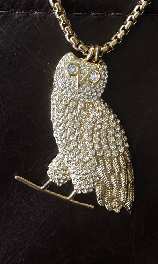 Octobers Very Own Drake Crew Only Exclusive OVO Gold Diamond Owl Pendant Necklace Chain October's Very Own Limited Edition Revenge More Life Friends and Family Size ONE SIZE - 5