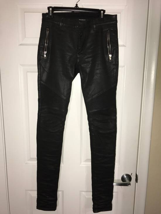 Balmain Skinny Fit Coated Denim Size US 29 - 1