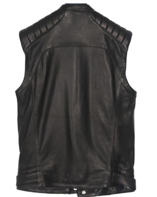 Balmain biker leather vest Size US M / EU 48-50 / 2 - 1