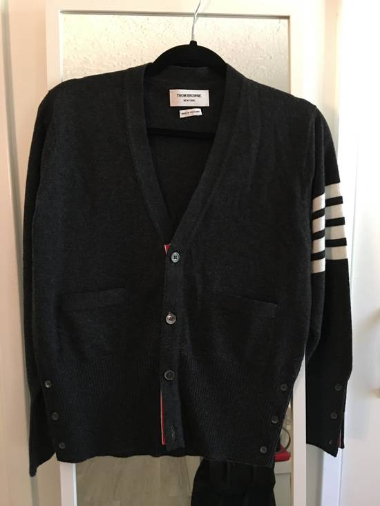 Thom Browne Dark Grey Cashmere Cardigan Size US M / EU 48-50 / 2