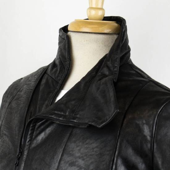 Julius 7 Men's Black Lamb Skin Leather Zip-Up Jacket Size 2/S Size US S / EU 44-46 / 1 - 5