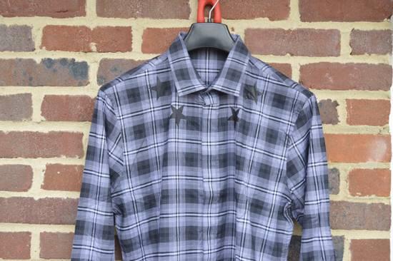 Givenchy Grey Plaid Stars Print Shirt Size US XL / EU 56 / 4 - 3