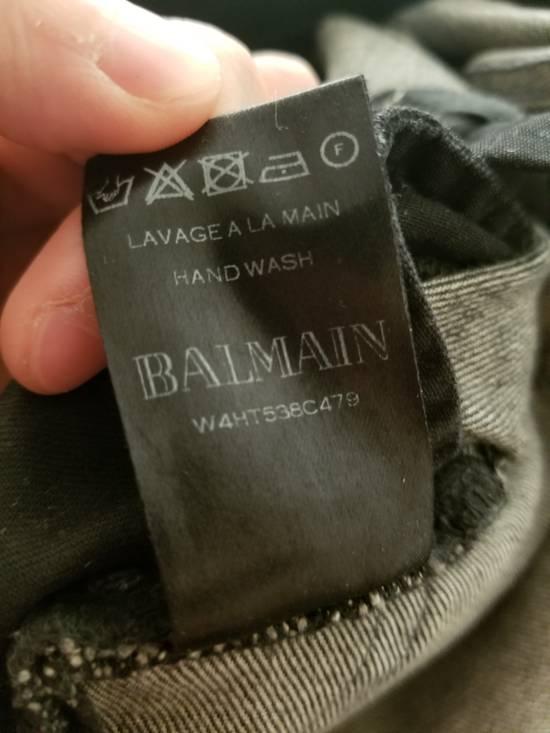 Balmain 14 fw distressed biker jeans Size US 27 - 3