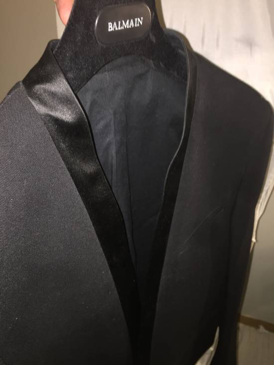 Balmain Black Tuxedo Blazer Size 50S - 8