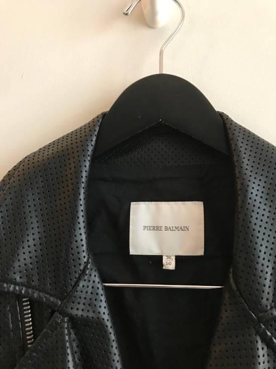 Balmain $1200 Last Drop Before Delete Perforated Eco Leather Vest Black Size US M / EU 48-50 / 2 - 4