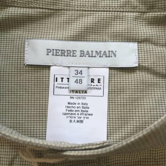 Balmain Tan Band Collar Metal Logo Shirt NWT Size US M / EU 48-50 / 2 - 5
