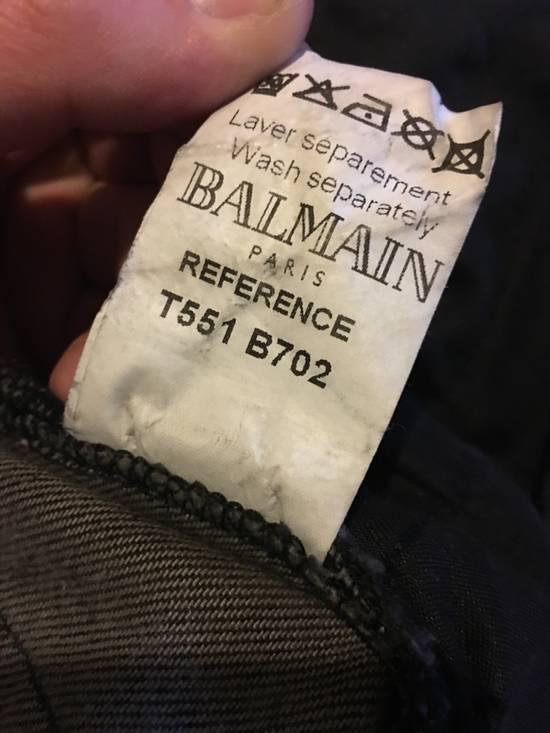 Balmain Black Distressed Biker Denim Size US 30 / EU 46 - 6